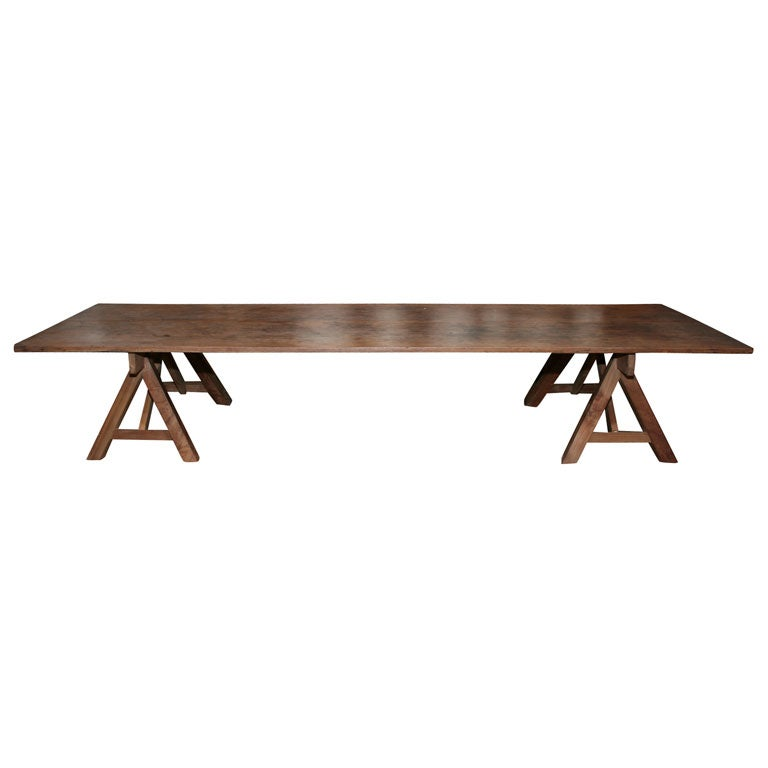 Rustic Plank Coffee Table At 1stdibs