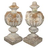 Pair of Cast Stone Finials