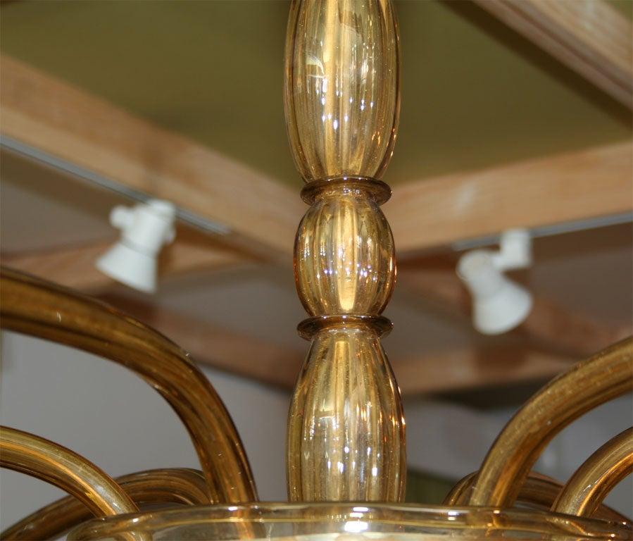 Amber Venetian Glass Chandelier For Sale 3