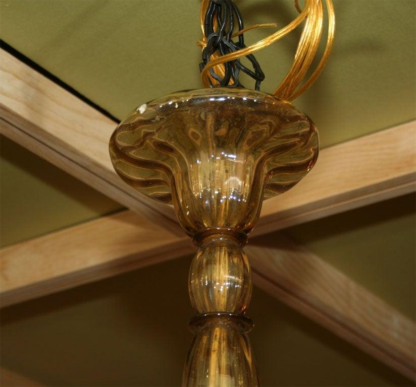 Amber Venetian Glass Chandelier For Sale 4
