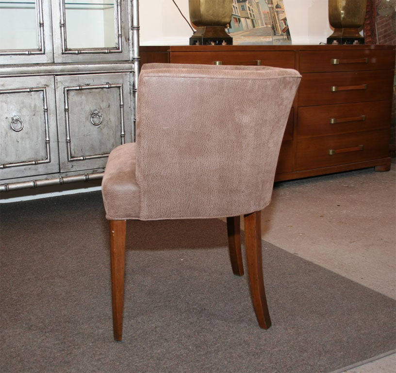 Fabric Mid Century Tub Chair For Sale
