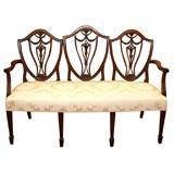Antique English Hepplewhite settee