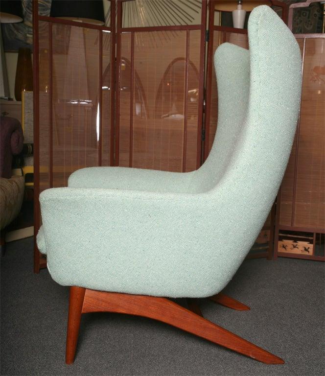 danish egg lounge chair rocker and ottoman at 1stdibs. Black Bedroom Furniture Sets. Home Design Ideas