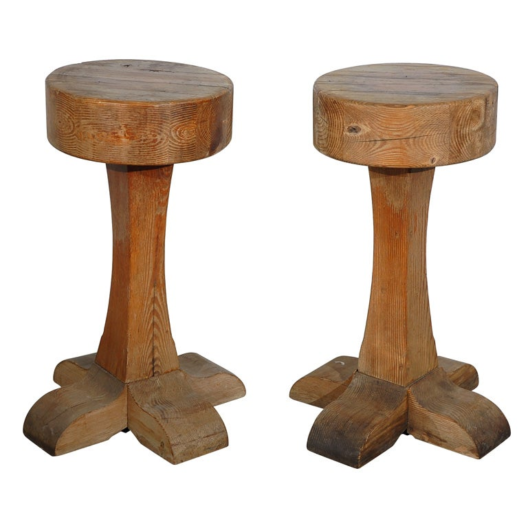 Vintage Wood Barstools At 1stdibs