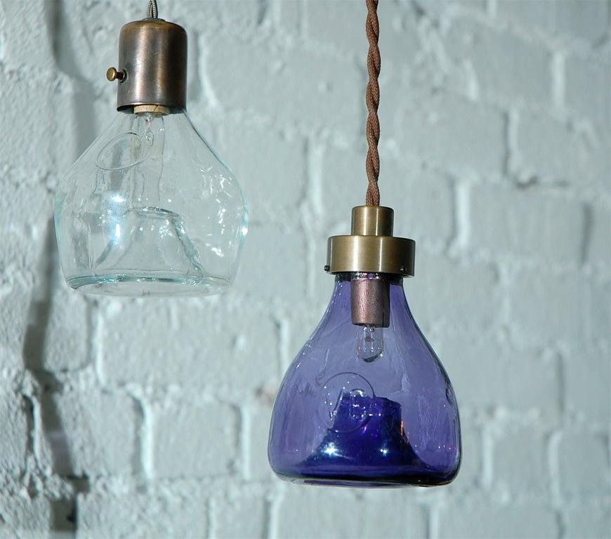 Unique Vintage Glass Fly Trap Pendant 2