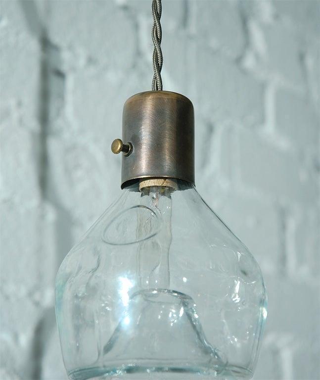 Unique Vintage Glass Fly Trap Pendant 5