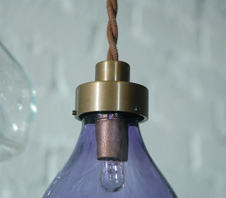 Unique Vintage Glass Fly Trap Pendant 7