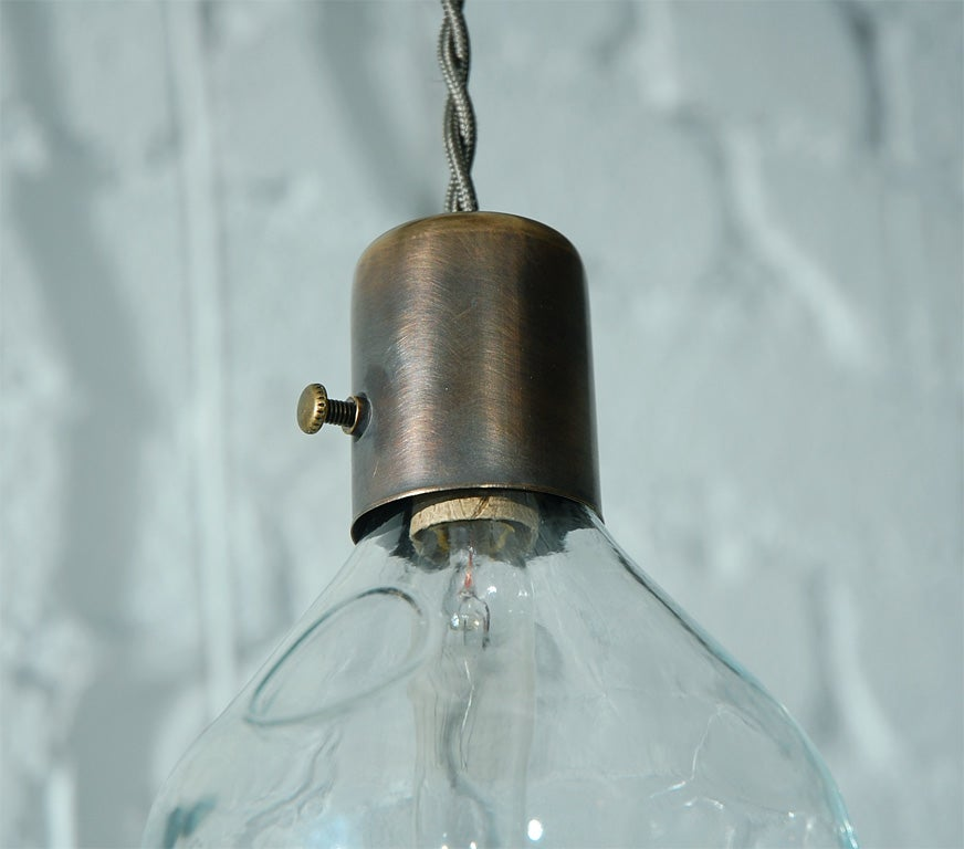 Unique Vintage Glass Fly Trap Pendant 8