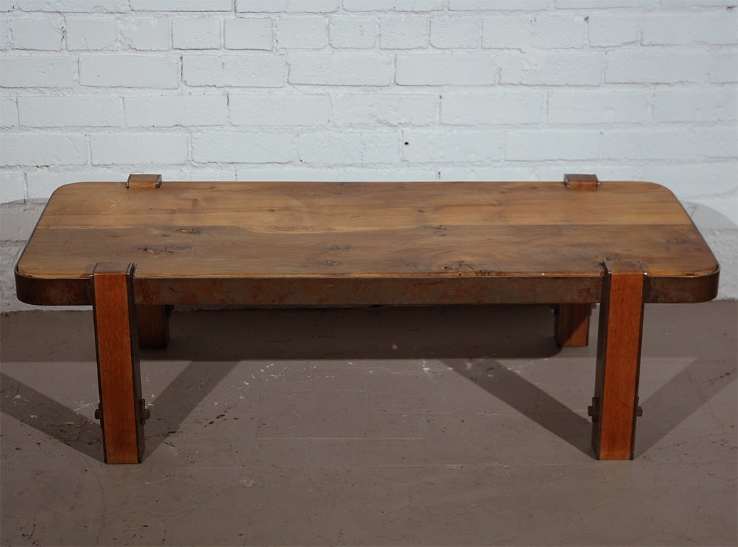 Post War French Coffee Table At 1stdibs
