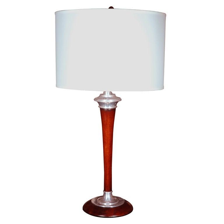 tall mid century wood lamp at 1stdibs. Black Bedroom Furniture Sets. Home Design Ideas