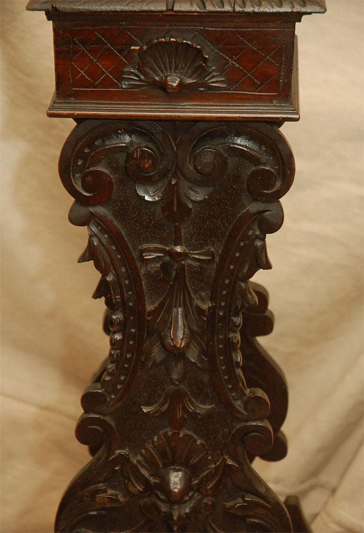 Carved gothic style pedestal at stdibs