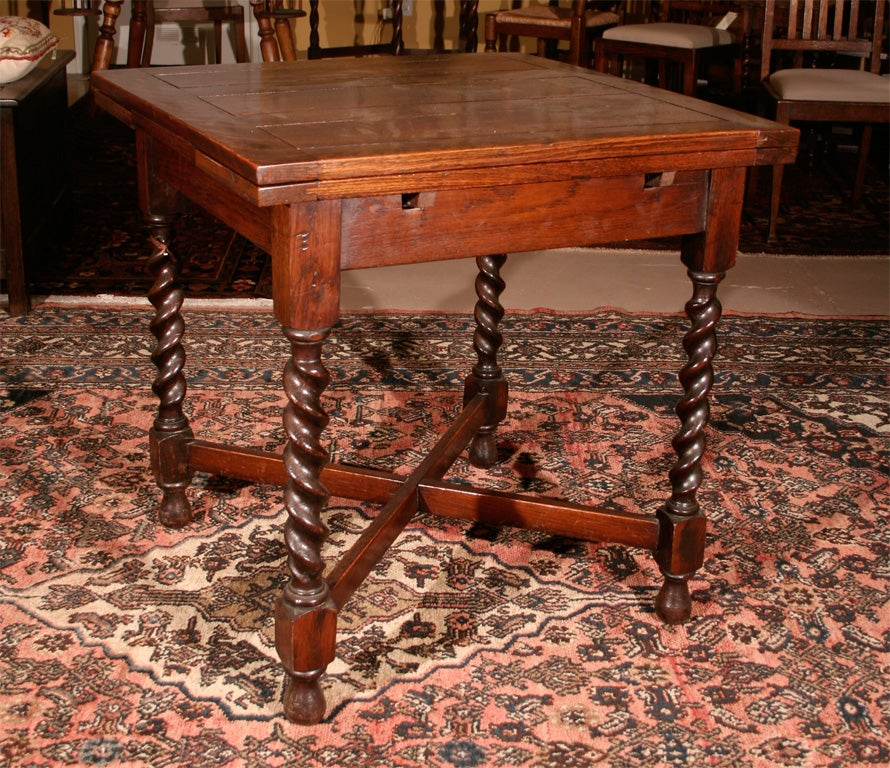 Petite Oak Barley Twist Pub Table at 1stdibs