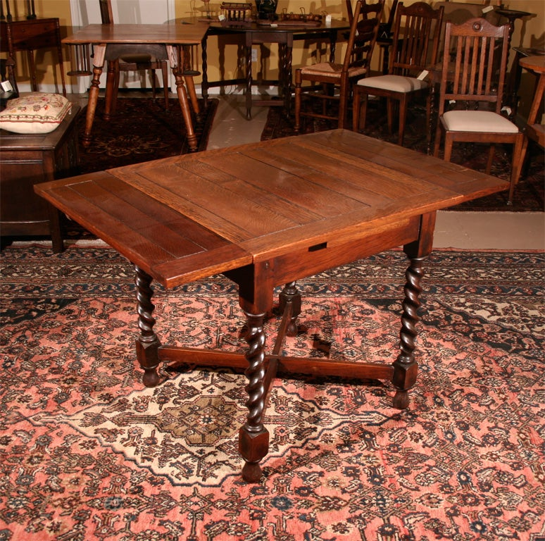 petite oak barley twist pub table at 1stdibs. Black Bedroom Furniture Sets. Home Design Ideas