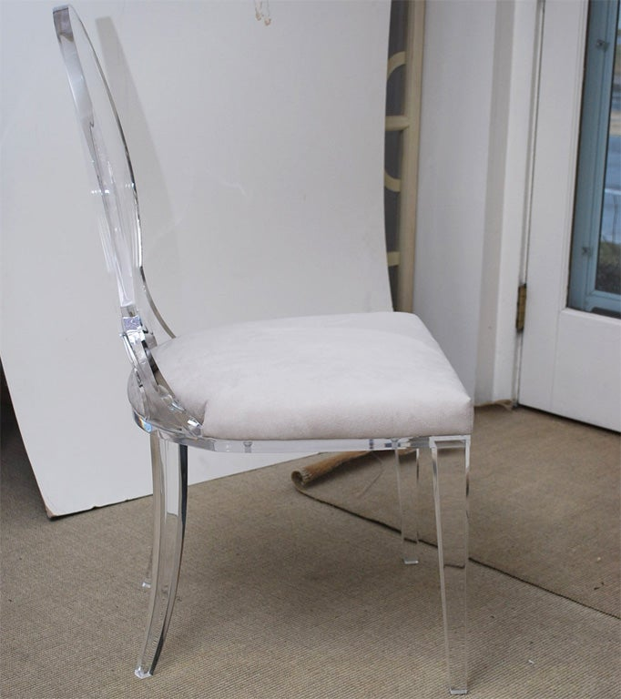 Lucite Dining Chair Upholstered in Ultrasuede at 1stdibs : DSC0026 from 1stdibs.com size 682 x 768 jpeg 66kB