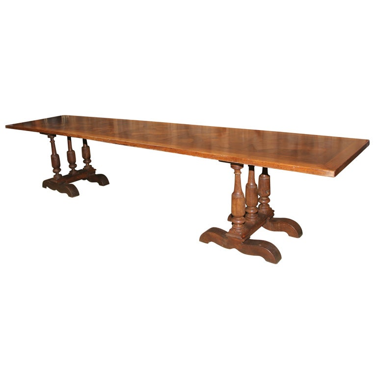 Impressive Oak Refectory Table