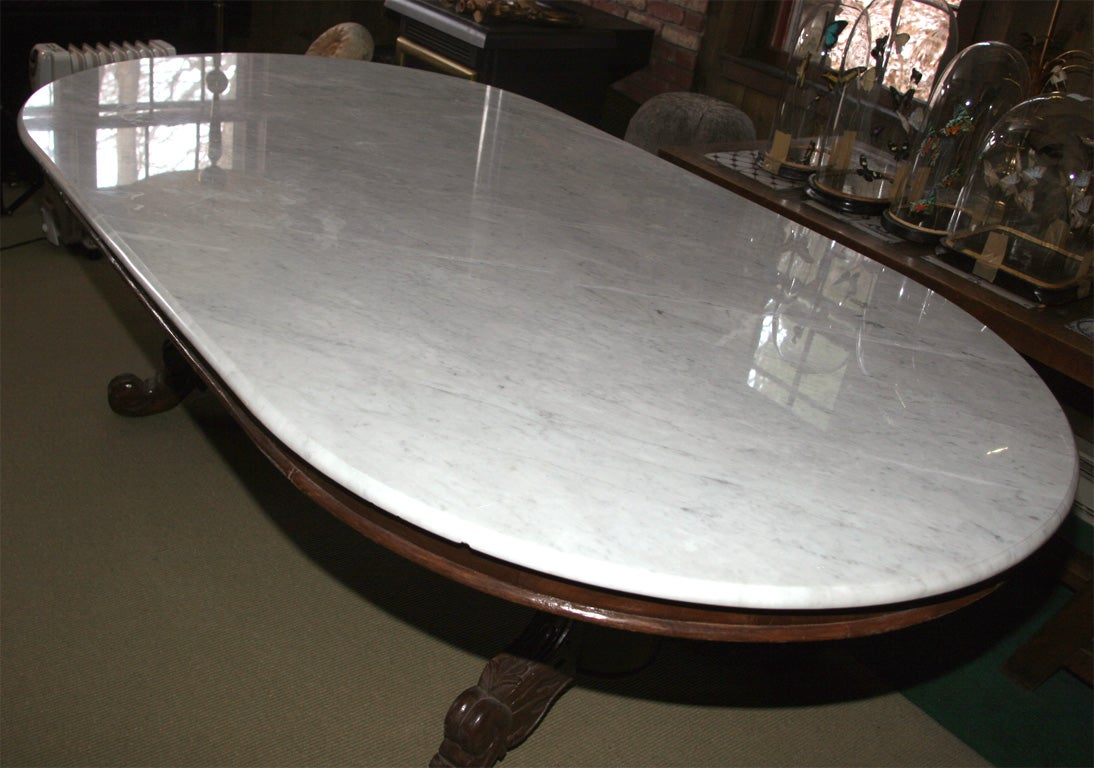 Elegant Marble Top Dining Table For Sale 2