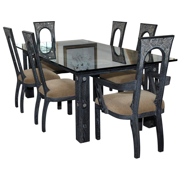 beautiful art deco dining set by james mont at 1stdibs