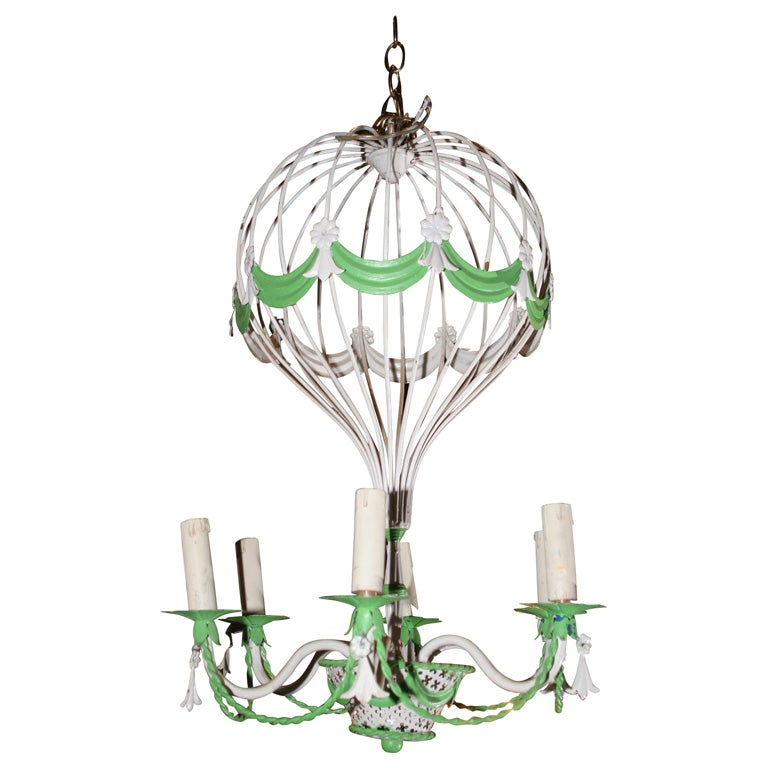 French hot air balloon chandelier at 1stdibs french hot air balloon chandelier for sale mozeypictures Images