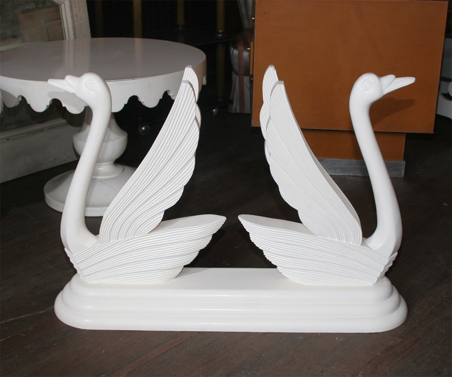 Double Swan Table Base At 1stdibs