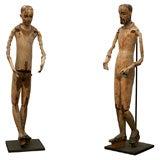 Pair of Spanish Colonial Santos Figures