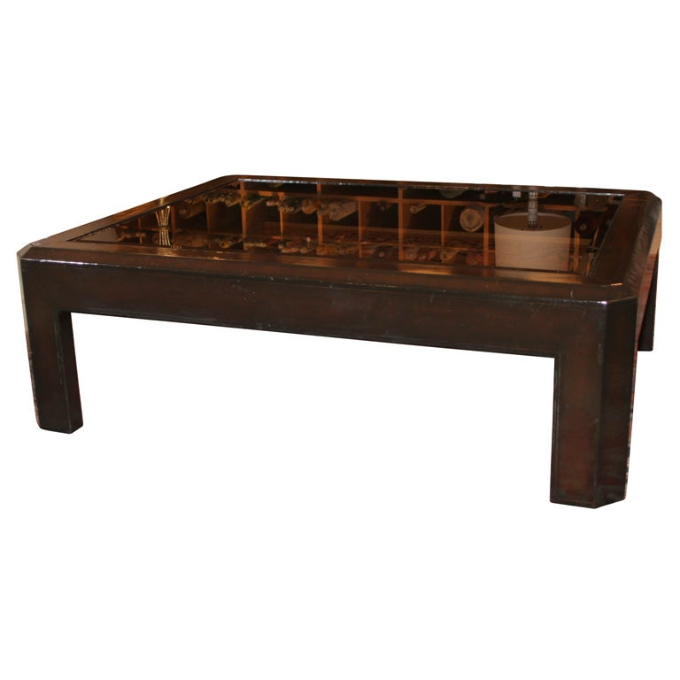 Maitland Smith Leather Clad Coffee Table At 1stdibs
