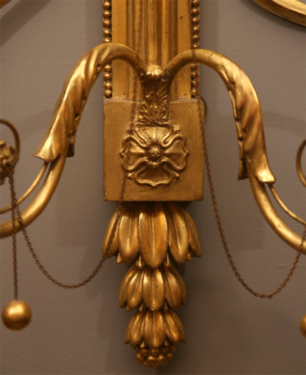 Pair of 19th Century Giltwood Wall Sconces For Sale 3