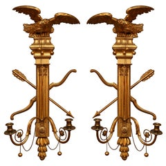 Pair of 19th Century Giltwood Wall Sconces