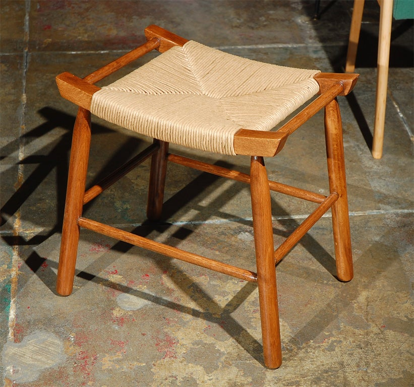 Pair Of 1950s Stools In The Manner Of Hans Wegner At 1stdibs