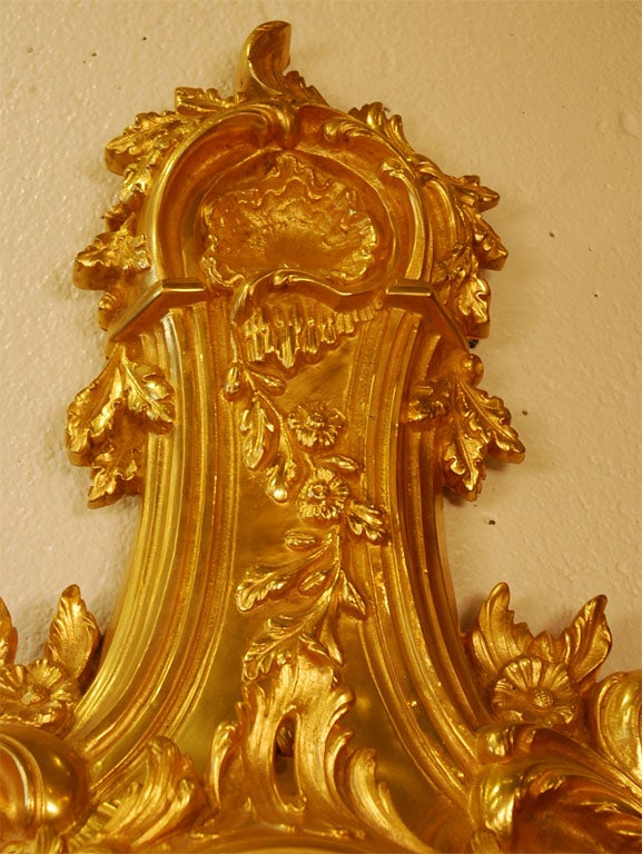 Louis XV Style Cartel Clock In Good Condition For Sale In Pembroke, MA