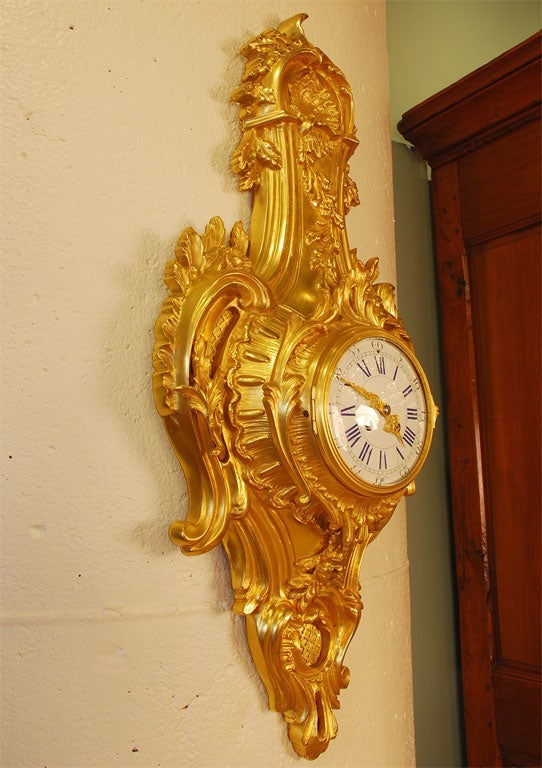 19th Century Louis XV Style Cartel Clock For Sale