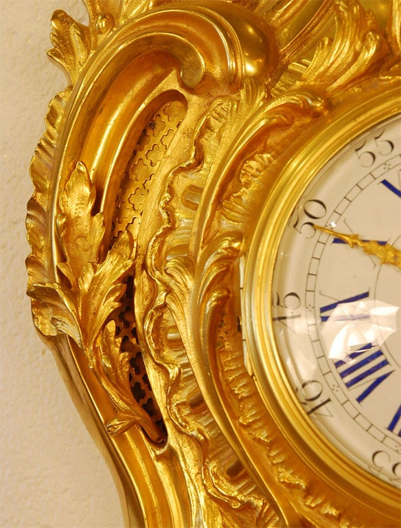 Louis XV Style Cartel Clock For Sale 1