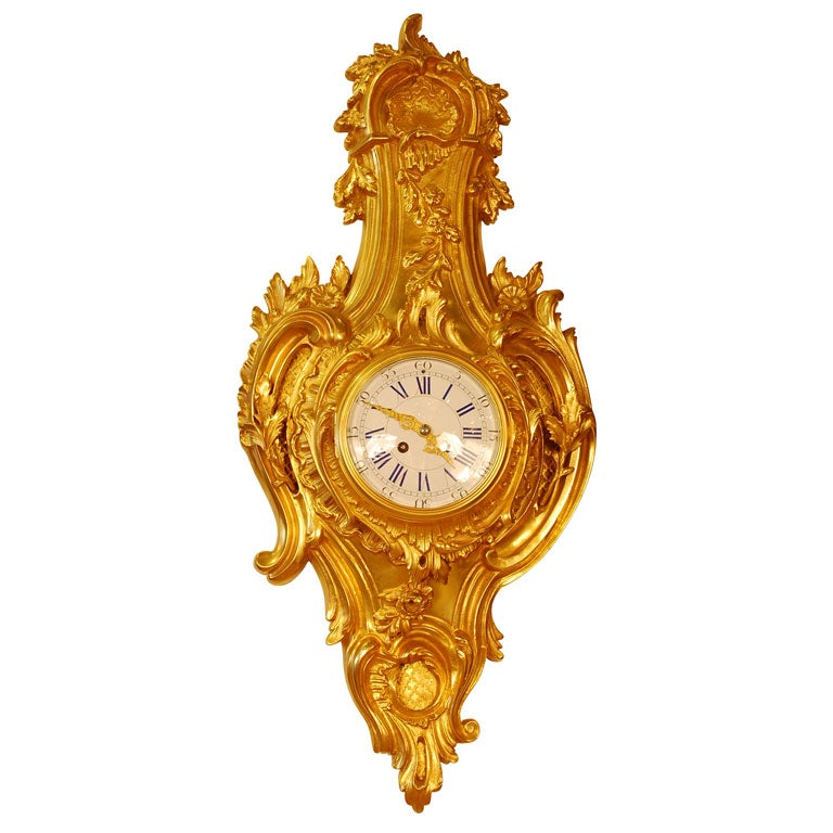 Louis XV Style Cartel Clock For Sale