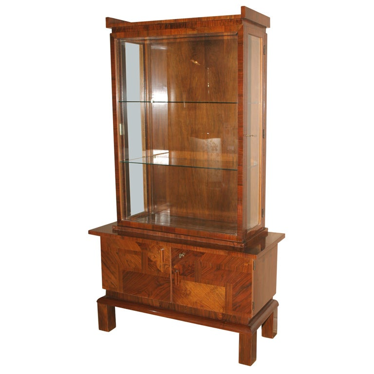 art deco vitrine display cabinet at 1stdibs. Black Bedroom Furniture Sets. Home Design Ideas