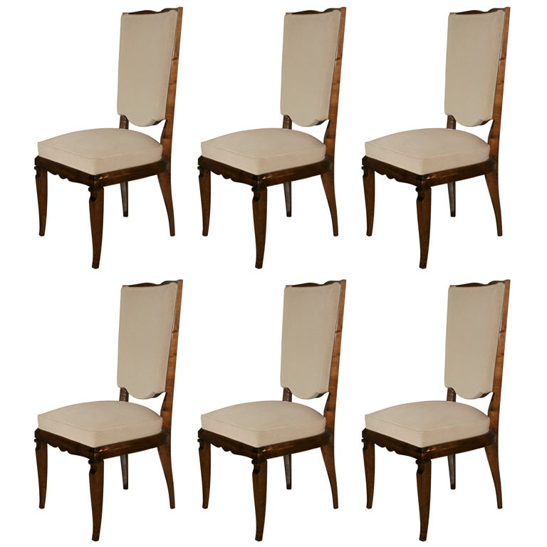 Dining chair suite 6 for sale at 1stdibs for 6 x dining room chairs