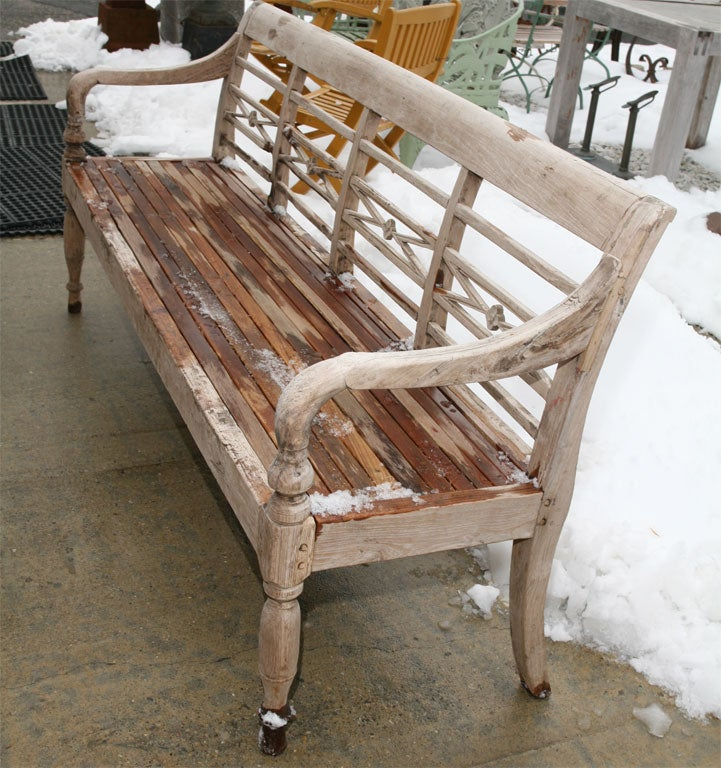 Hand Carved Indoor Or Outdoor Teak Bench At 1stdibs