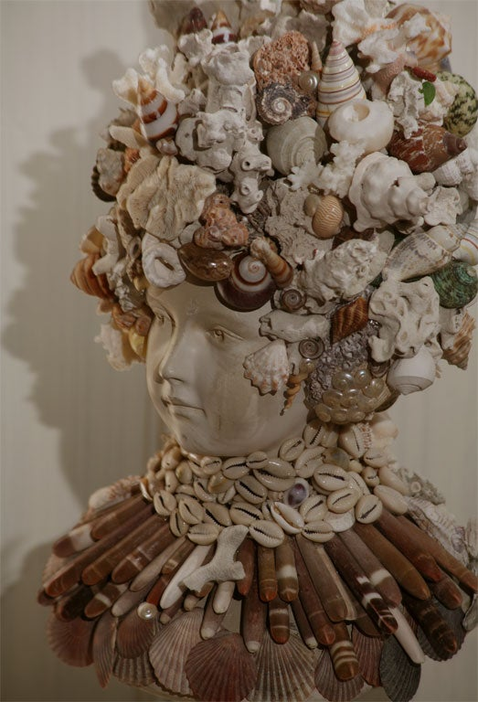 20th Century Fanciful Sea Shell Bust
