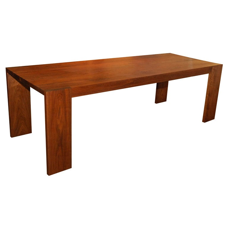 solid walnut dining table by marmol radziner at 1stdibs. Black Bedroom Furniture Sets. Home Design Ideas