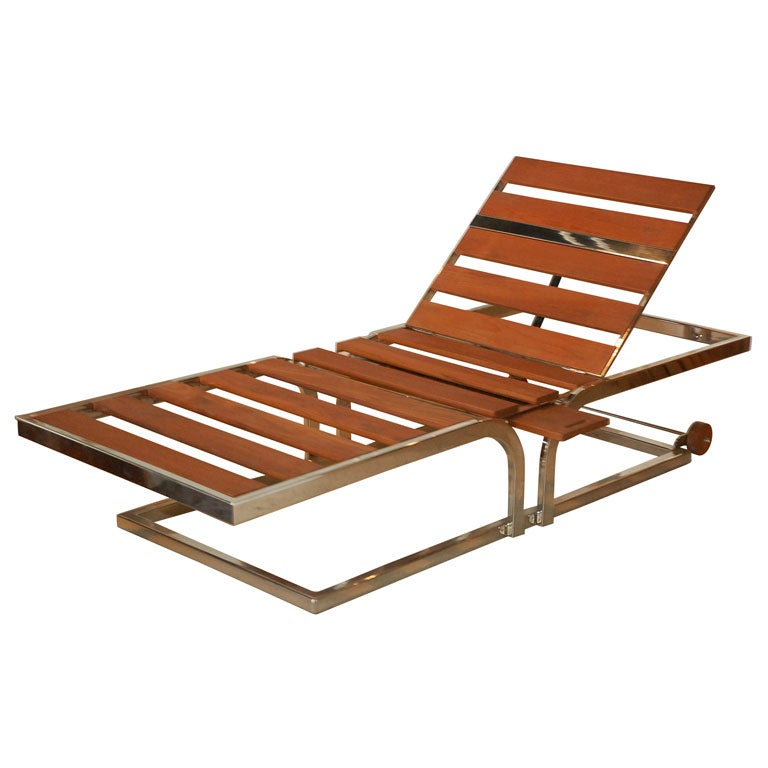Outdoor chaise lounge at 1stdibs for Chaise longue garden furniture