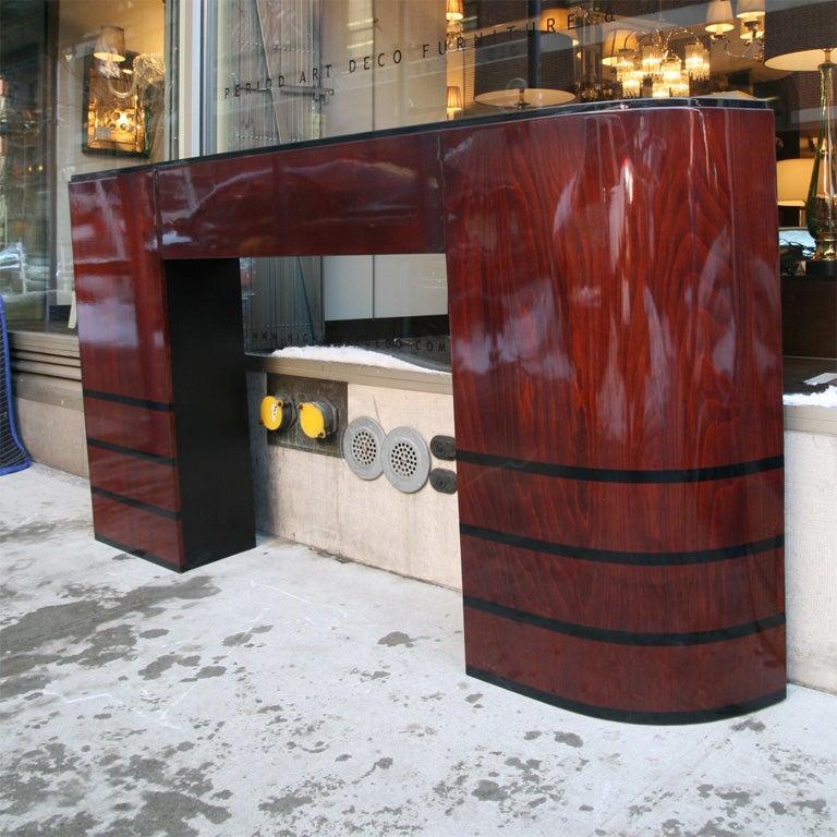 Streamline art deco fireplace mantel at 1stdibs