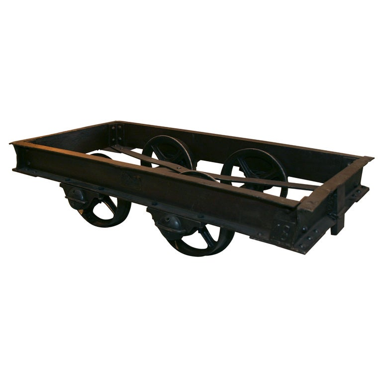 Industrial Mine Cart/table At 1stdibs