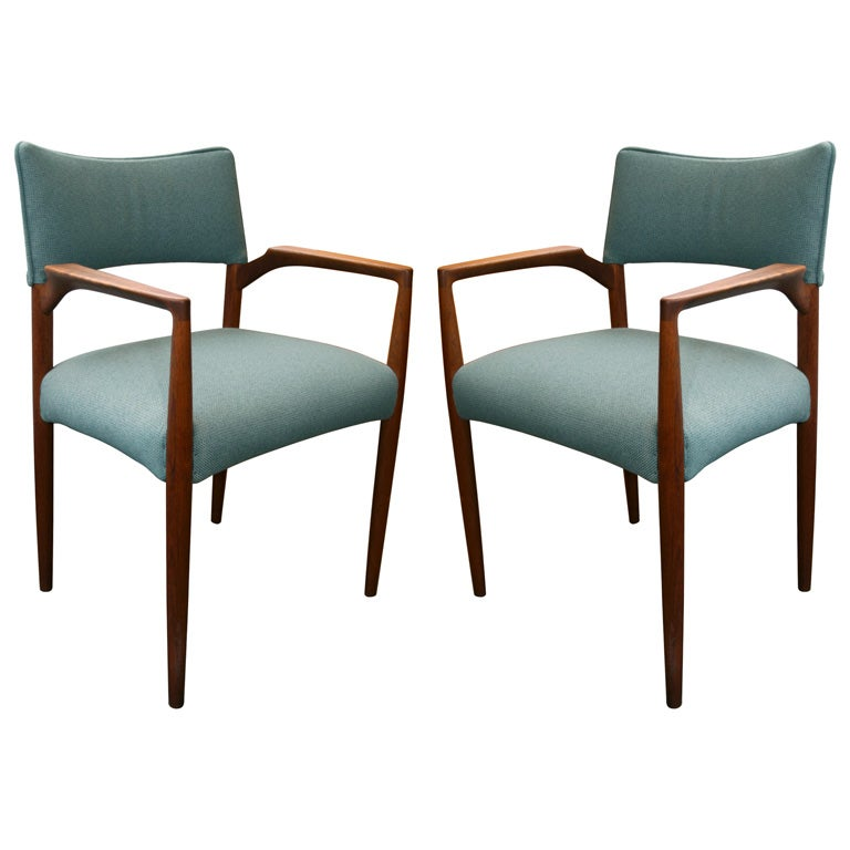 J L Moller Set Of 6 Solid Teak Danish Modern Dining Chairs At 1stdibs