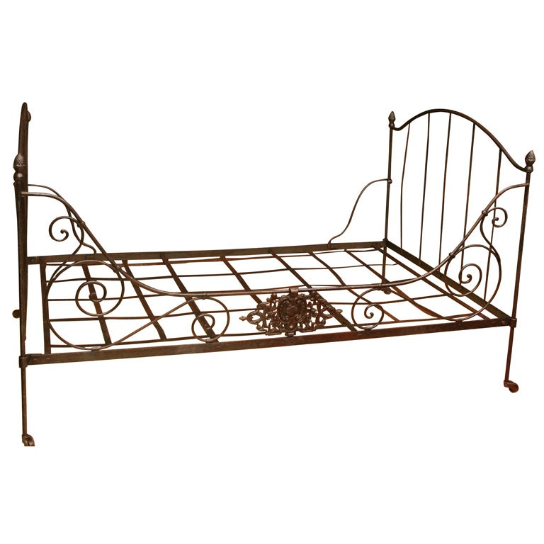 French Iron Folding Daybed For Sale