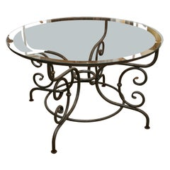 Round Metal Table Base for Indoor or Outdoor Dining
