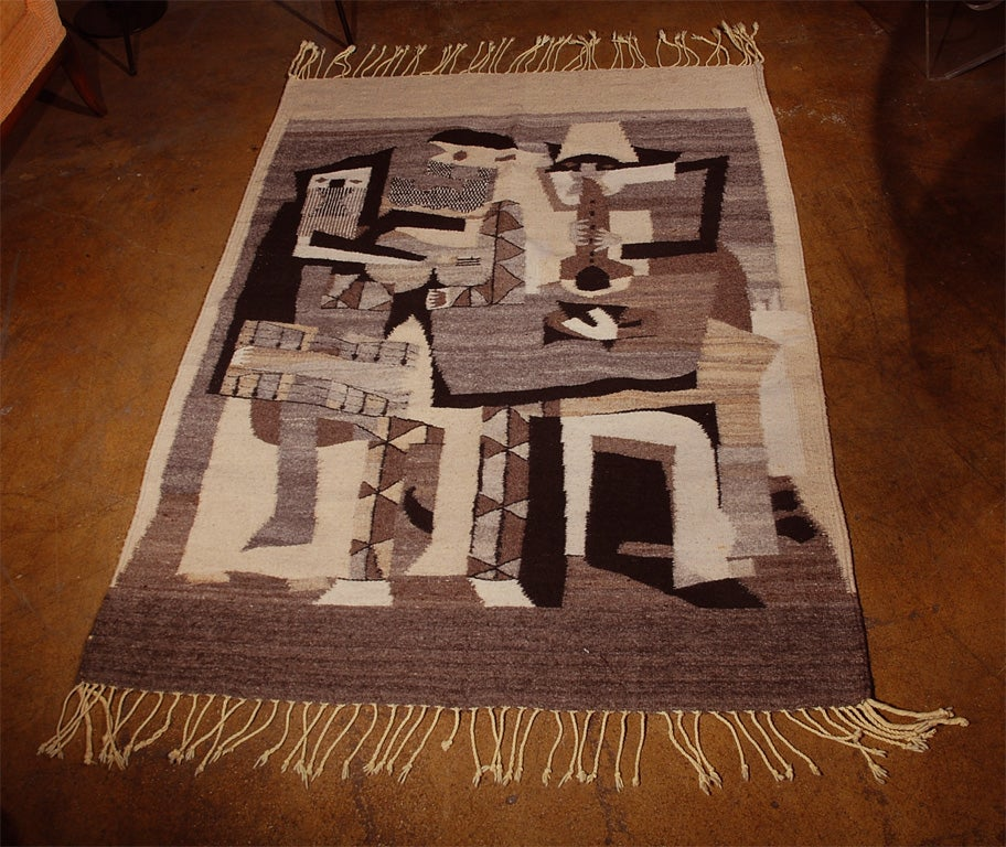 After Pablo Picasso Area Wool Rug At 1stdibs