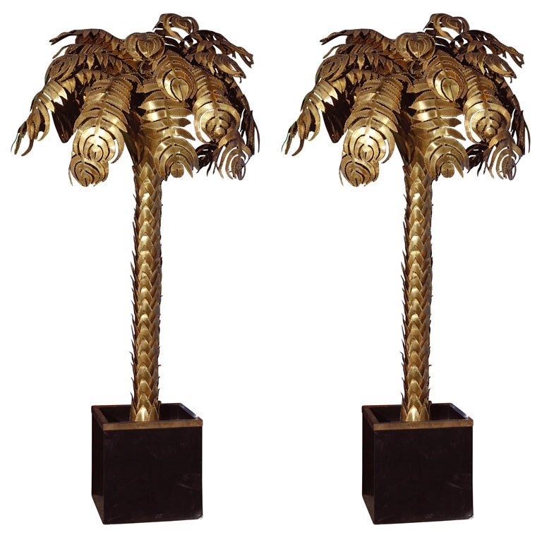 Pair of Italian Palm Tree Floor Lamps at 1stdibs