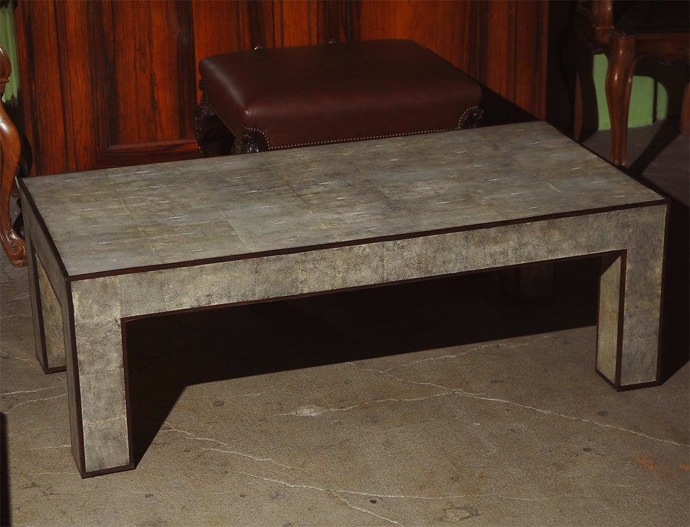 low shagreen coffee table at 1stdibs