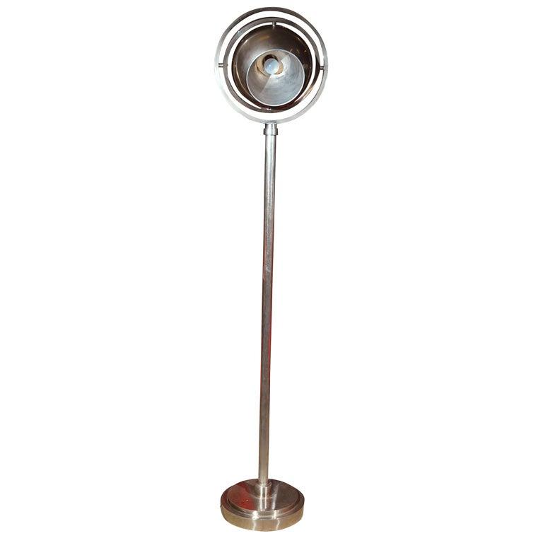 Martin chrome plated brass floor lamp at 1stdibs for Brass plated floor lamp