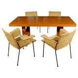 Van Keppel-Green Birch Camel Table and 4 Dining Chairs