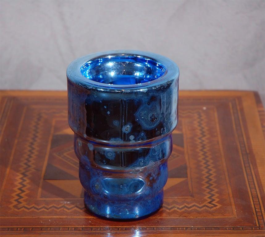 Deco Mercury Glass Vase At 1stdibs