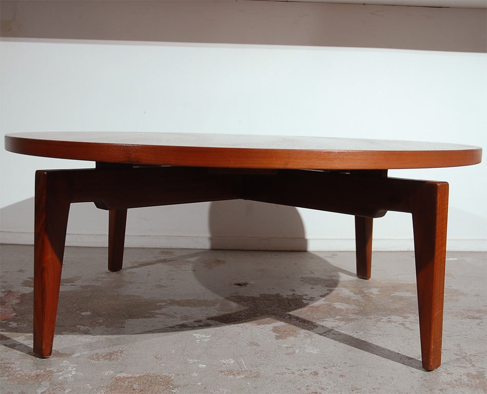 Jens Risom Coffee Table With Revolving Top At 1stdibs